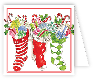 Merry Christmas Stockings  Enclosure Card