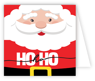 Ho Ho Ho Santa Enclosure Card