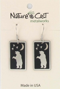 Dancing Bear Dangle Earrings