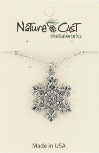 Filagree Snowflake Necklace - 18