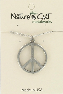 Large Peace Sign Pendant - 18