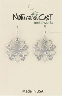 Dangle Filigree Flower Earrings