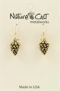 Dangle Pine Cone Earrings