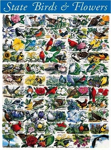 State Birds & Flowers 1000  Pc. Jigsaw Puzzle