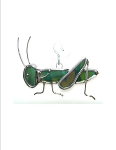 Stained Glass Ornament - Grasshopper