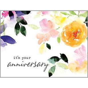 Watercolor Blossoms Anniversary