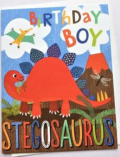 Stegosaurus Birthday Boy
