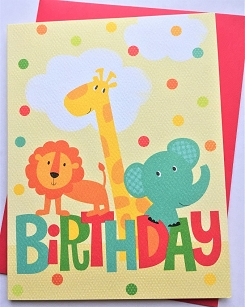 Baby Birthday Animals