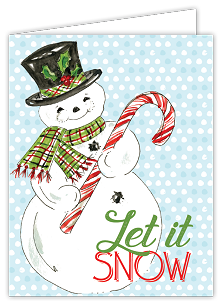 Let It Snow Snowman Boxed Cards