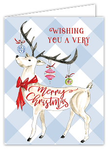 Wishing You A Very Merry Reindeer Card