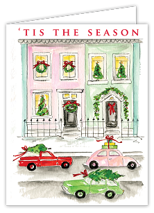 Tis The Season City Street Boxed Cards