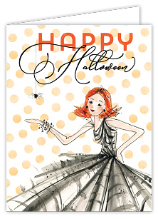 Happy Halloween Fashionista Card