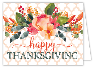 Happy Thanksgiving Fall Flowers Card