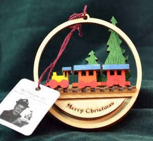 Ginger Cottage Toy Train Ornament