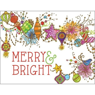 Bright Ornaments Boxed Cards