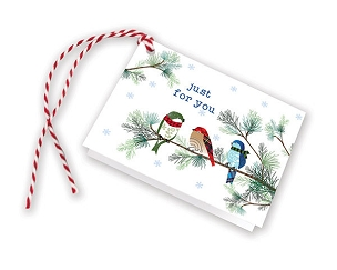 Winter Birds/Pine Gift Tags