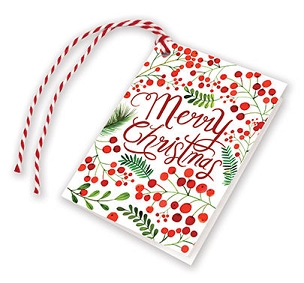 Red Christmas Berries Gift Tags