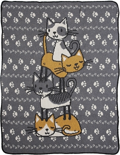 Child / Junior Throw Blanket - Stacked Cats