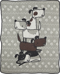 Child / Junior Throw Blanket - Stacked Dogs
