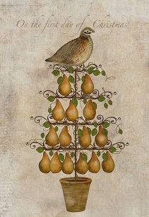 Partridge Pear Tree Folk Art Wood Sign