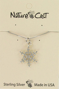 Sterling Silver Snowflake Pendant - 18