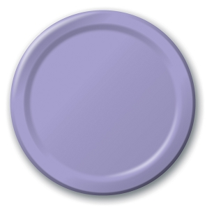 Lucious Lavender Round Dinner Paper Plates