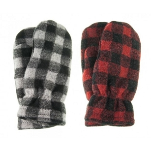 Buffalo Plaid Mittens - Adult