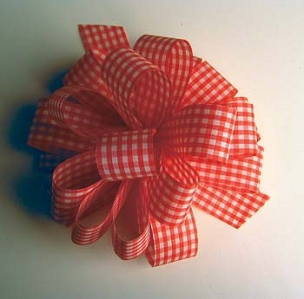 Gingham Check Ribbon-1 7/8