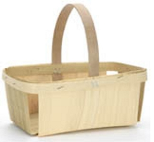 Rectangle Berry Basket with Handle-1 Quart