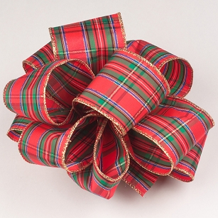 Regalia Plaid Wire-Edge Ribbon-2.5