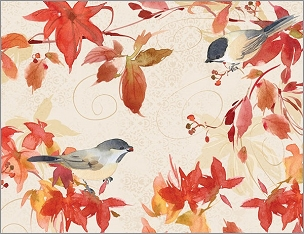 AUTUMN CHICKADEE NOTECARD