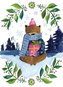 Bear in Mountains Boxed Cards
