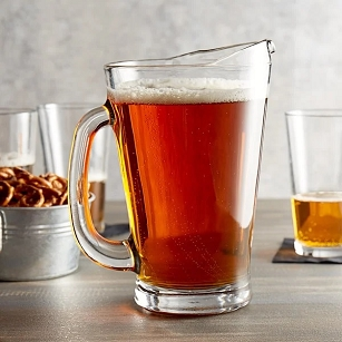 Beer Wagon Glass Pitcher