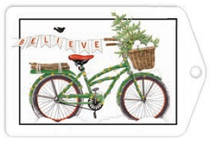 Believe Bike Holiday Gift Tags