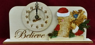 Christmas Clock- Believe