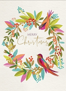 Bird on Wreath Boxed Cards