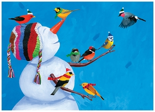 Birdies & Snowman Boxed Cards