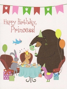 Birthday Princess Tea Party Birthday Card