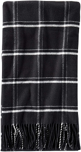Pendleton 5th Avenue Throw - Black Windowpane