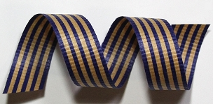 Blue & Kraft Crimped Cotton Curling Ribbon