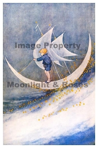 Boy on Moon Sailing