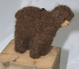 Needlefelt Ornament-Brown Sheep
