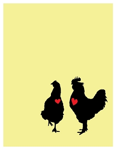 Rooster & Hen