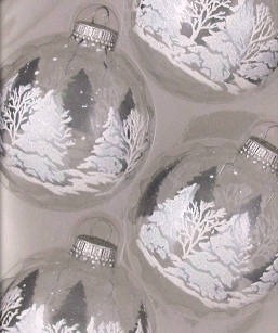 Clear with White/Silver Festive Ornaments