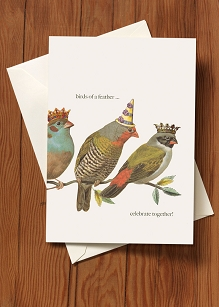 Birthday Card-Birds of a Feather