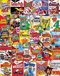 Cereal Boxes 1000  Pc. Jigsaw Puzzle