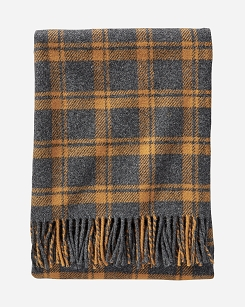 Pendleton Eco-Wise Throw - Charcoal/Copper