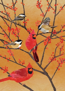 Chickadees & Cardinals Holiday Boxed Cards