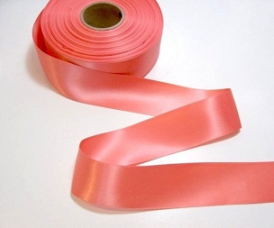 Coral Double Face Satin Ribbon