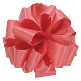 Coral Rose Double Face Satin Ribbon